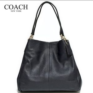 Coach Phoebe Leather Shoulder Hobo Bag F35723